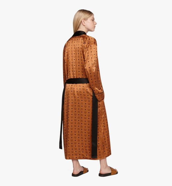 MCM Classic Logo Silk Reversible Robe Cognac MHHASBM02CO00L Alternate View 10