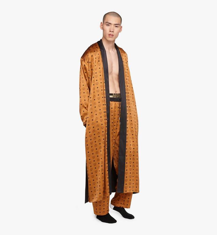 MCM Classic Logo Silk Reversible Robe Cognac MHHASBM02CO00S Alternate View 5