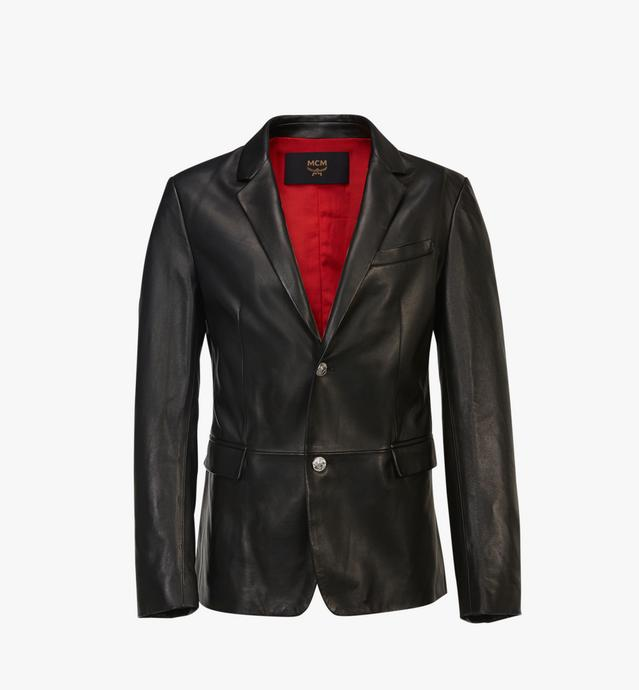 남성용 테일러드 레더 재킷