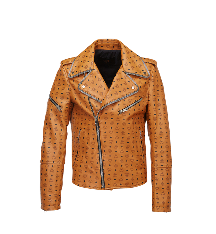MCM Men's Visetos Print Leather Rider Jacket Alternate View