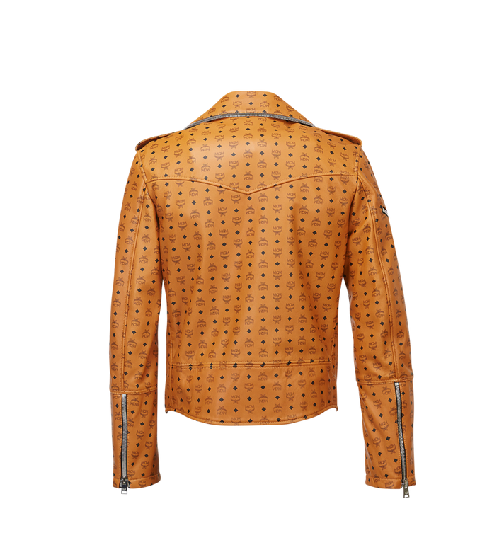 MCM Men's Visetos Print Leather Rider Jacket Cognac MHJ8SMM62CO00M Alternate View 3