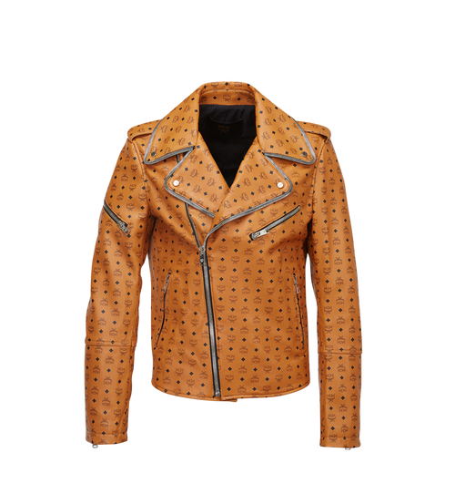 Men's Visetos Print Leather Rider Jacket