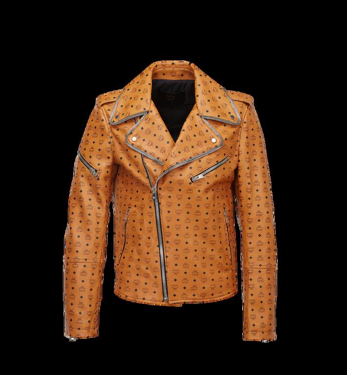 MCM Men's Visetos Print Leather Rider Jacket Alternate View