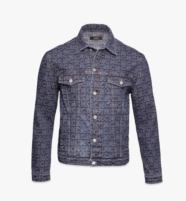 MCM Men's Monogram Denim Jacket Alternate View