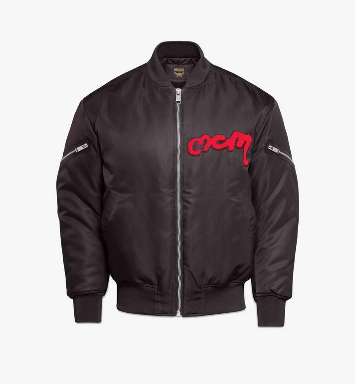 MCM Men's Bold Logo Bomber Jacket in Nylon Gabardine Alternate View