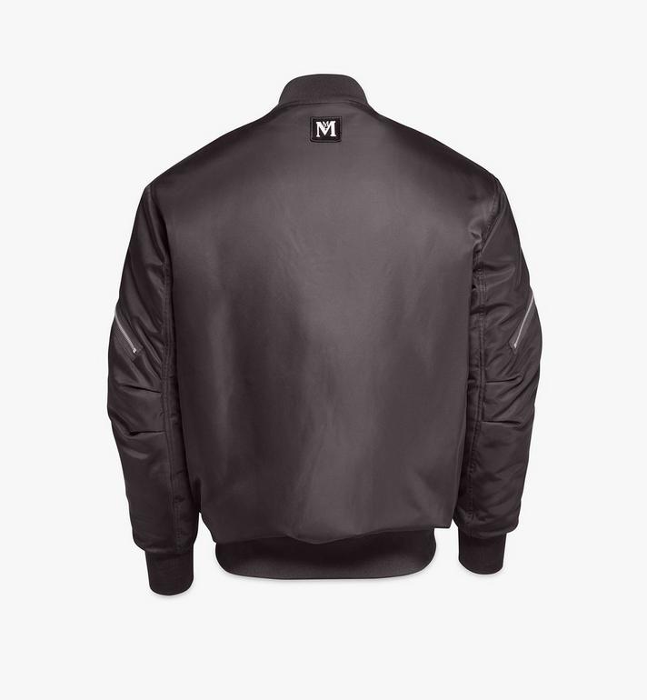 MCM Men's Bold Logo Bomber Jacket in Nylon Gabardine Black MHJAAMM07BK048 Alternate View 2