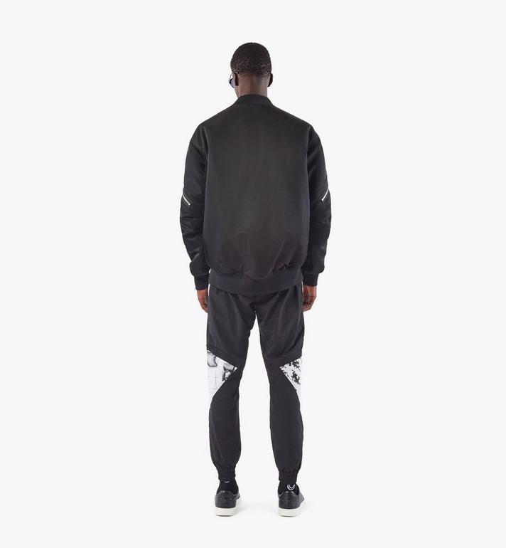 MCM Men's Bold Logo Bomber Jacket in Nylon Gabardine Black MHJAAMM07BK048 Alternate View 5
