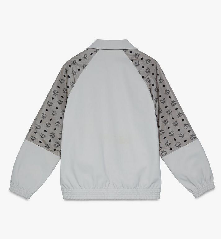MCM Men's Visetos Print Track Jacket in Nylon Grey MHJASMM03FJ00L Alternate View 2