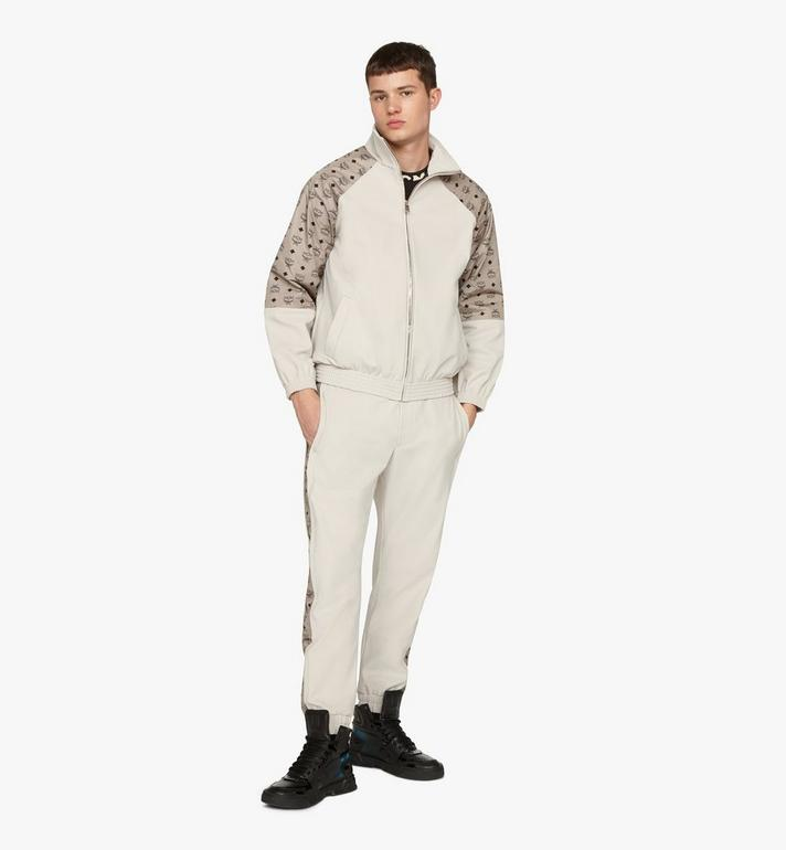 MCM Men's Visetos Print Track Jacket in Nylon Grey MHJASMM03FJ00L Alternate View 3