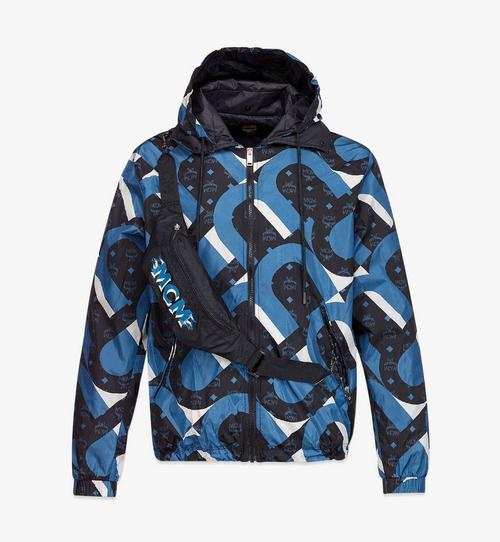 เสื้อกันลมผู้ชายพิมพ์ลาย Wave Visetos พร้อมกระเป๋าคาดเอวจากผ้า ECONYL®