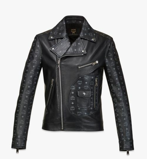 Men's Upcycling Project Monogram Leather Jacket