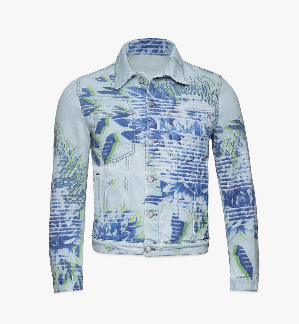 Men's Tech Flower Denim Jacket 1