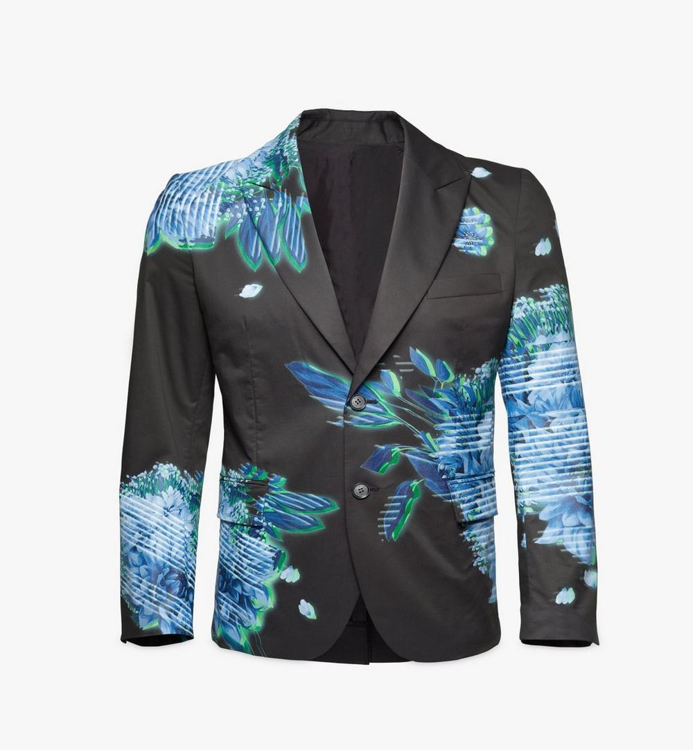 Men's Tech Flower Print Blazer 1