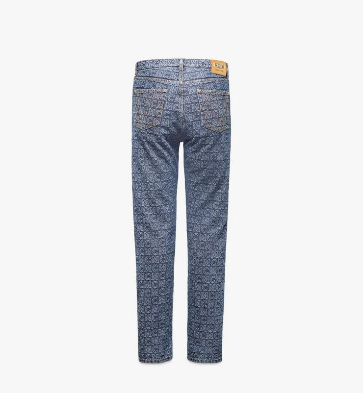MCM Men's Monogram Straight Leg Jeans Black MHPAADS01VW046 Alternate View 2