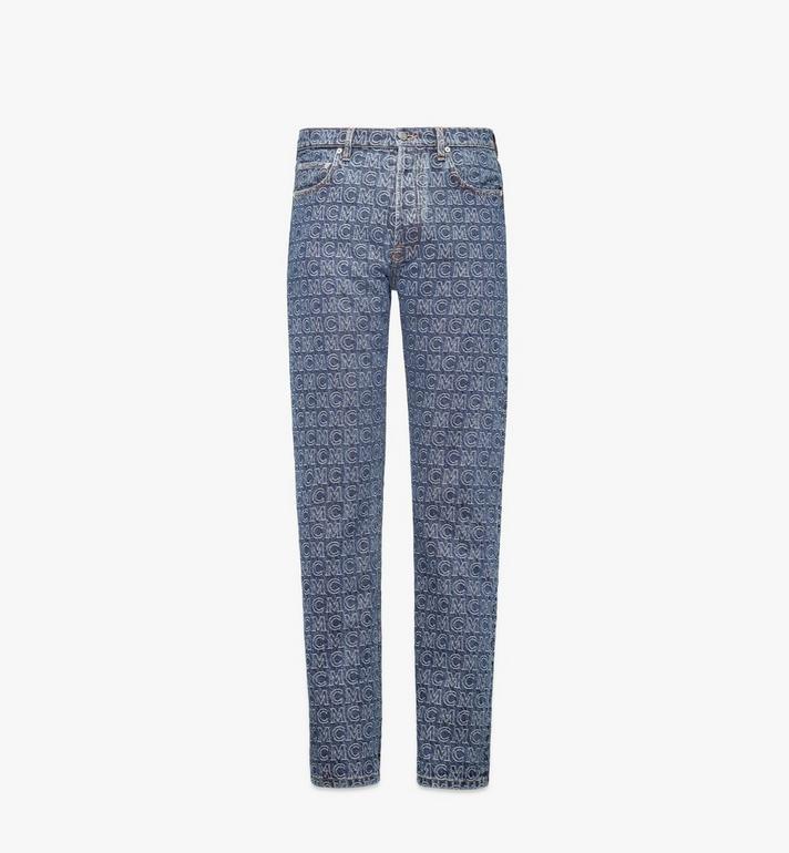 MCM Men's Monogram Straight Leg Jeans Alternate View