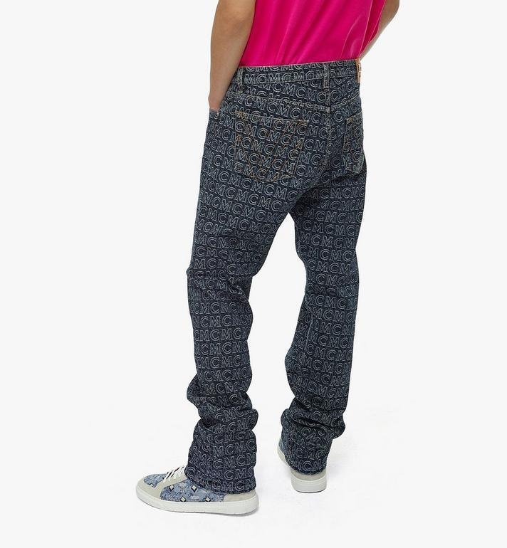 MCM Men's Monogram Straight Leg Jeans Black MHPAADS01VW048 Alternate View 5