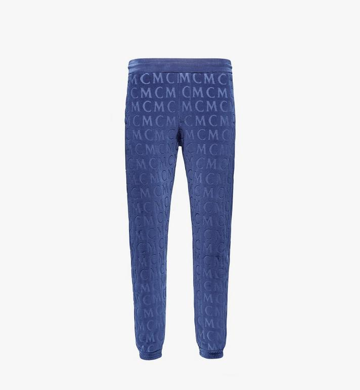 MCM Men's Monogram Velour Track Pants Alternate View