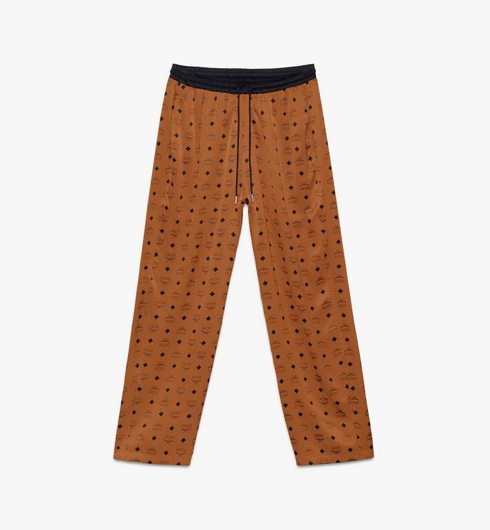 MCM Classic Logo Silk Pajama Pants Alternate View