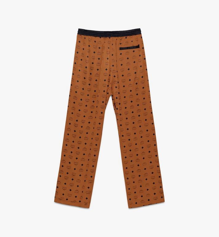 MCM Classic Logo Silk Pajama Pants Cognac MHPASBM01CO00M Alternate View 2