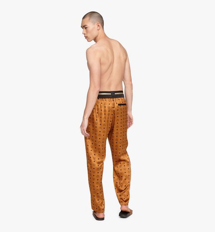MCM Classic Logo Silk Pajama Pants Cognac MHPASBM01CO0XL Alternate View 2