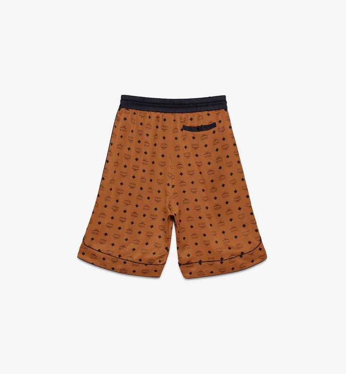 MCM Men's Silk Drawstring Shorts Cognac MHPASBM02CO0XL Alternate View 2