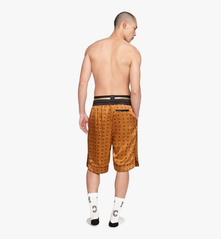 MCM Men's Silk Drawstring Shorts Cognac MHPASBM02CO0XL Alternate View 4