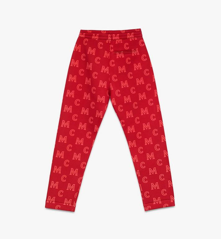 MCM Men's Monogram Track Pants Red MHPASMM03R400M Alternate View 2
