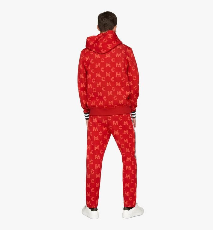 MCM Men's Monogram Track Pants Red MHPASMM03R400M Alternate View 4