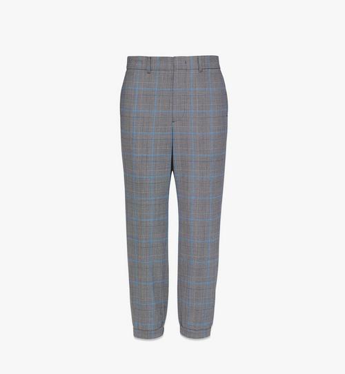 Men's Check Wool Sweatpants