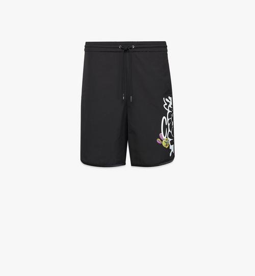กางเกงขาสั้นพิมพ์ลายโลโก้ MCM x SAMBYPEN สำหรับผู้ชาย