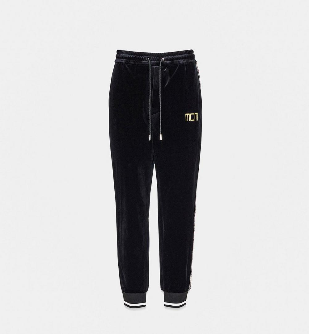 Geo Laurel Track Pants in Velour 1