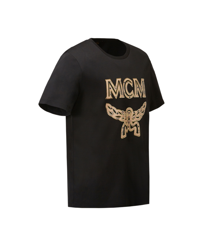 MCM Men's Logo T-Shirt Black MHT8SMM10BK00M Alternate View 2