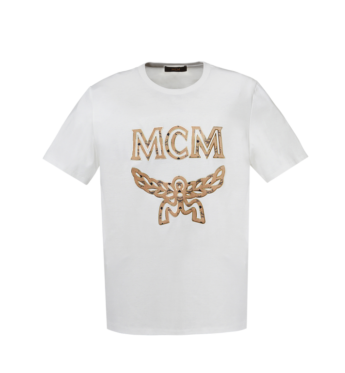 MCM Men's Logo T-Shirt White MHT8SMM10WI00L Alternate View 1