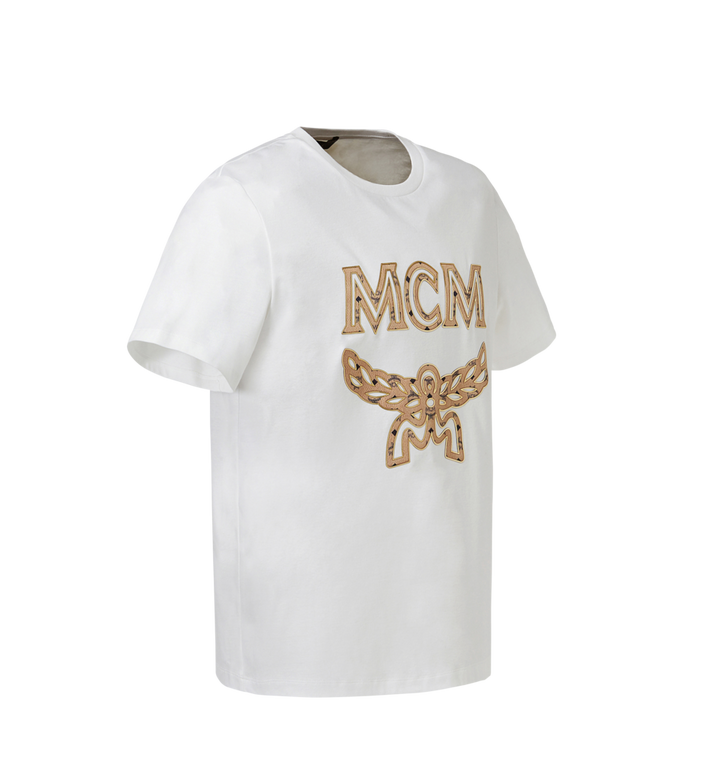 MCM Men's Logo T-Shirt White MHT8SMM10WI00L Alternate View 2
