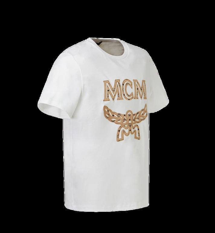 MCM Men's Logo T-Shirt White MHT8SMM10WI00M Alternate View 2
