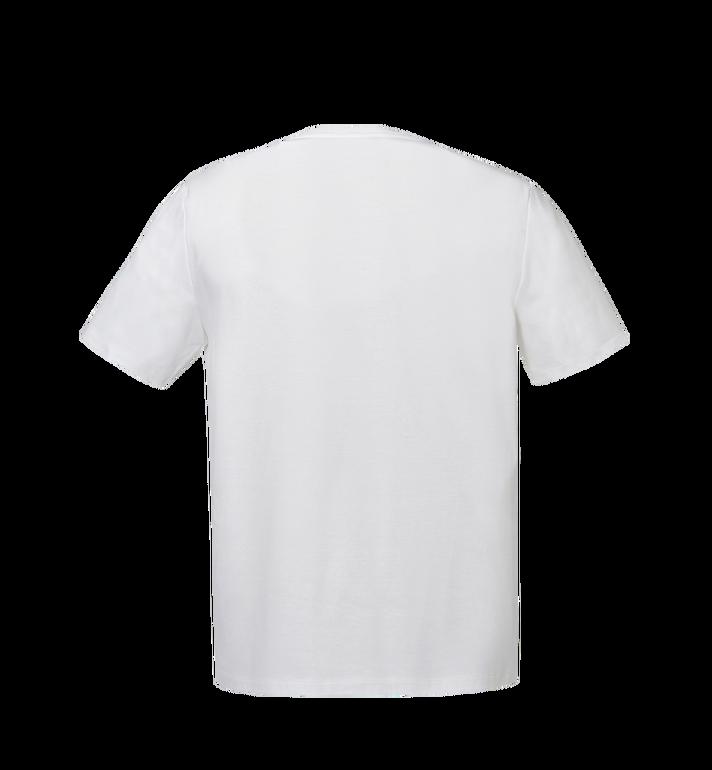 MCM Men's Logo T-Shirt White MHT8SMM10WI00M Alternate View 3