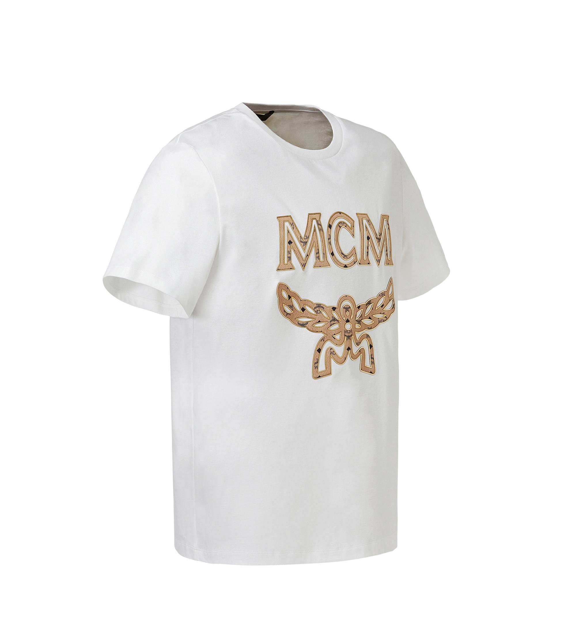 MCM 男士經典標誌 T 恤 White MHT8SMM10WI00S Alternate View 2