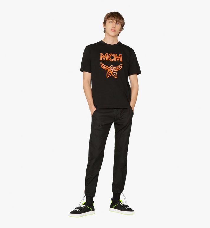 MCM Men's Logo T-Shirt Black MHT9AMM01BK00L Alternate View 3