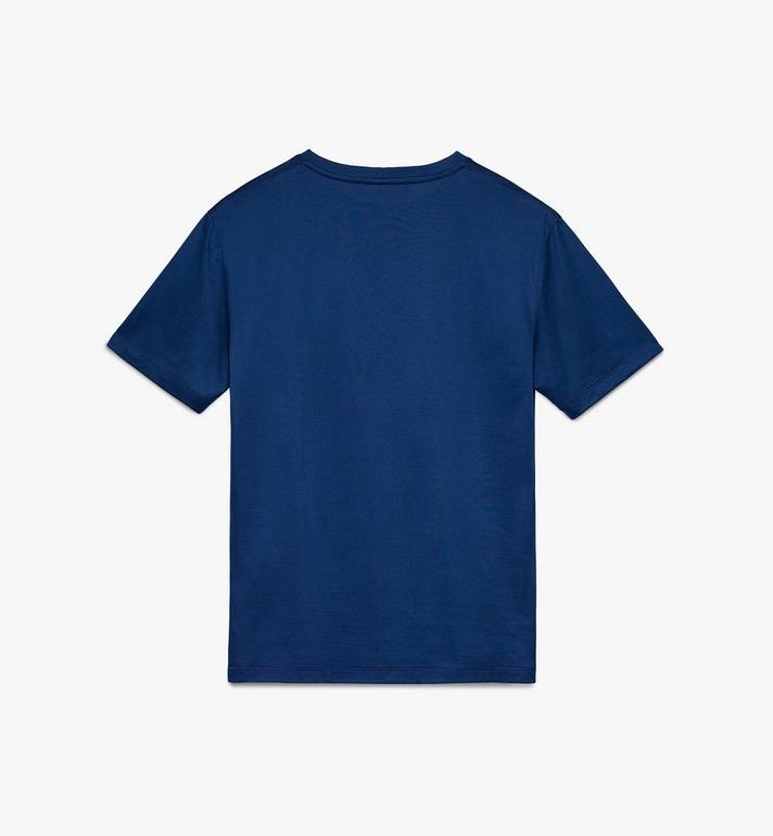 MCM Men's Logo T-Shirt Blue MHT9AMM80LG00S Alternate View 2