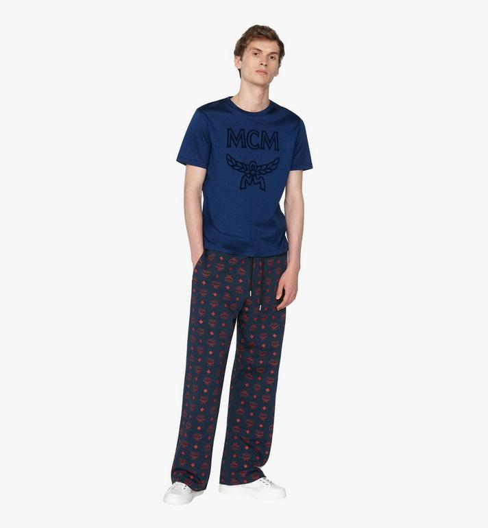 MCM 男士 Logo T 恤 Blue MHT9AMM80LG0XL Alternate View 3