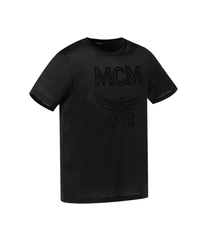 MCM Men's Tone On Tone Logo T-Shirt Black MHT9SMM80BK00S Alternate View 2