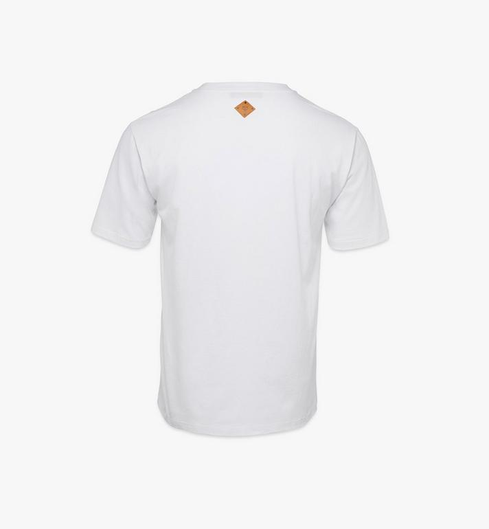 MCM Men's Valentine T-Shirt White MHTAACF01W20XL Alternate View 2