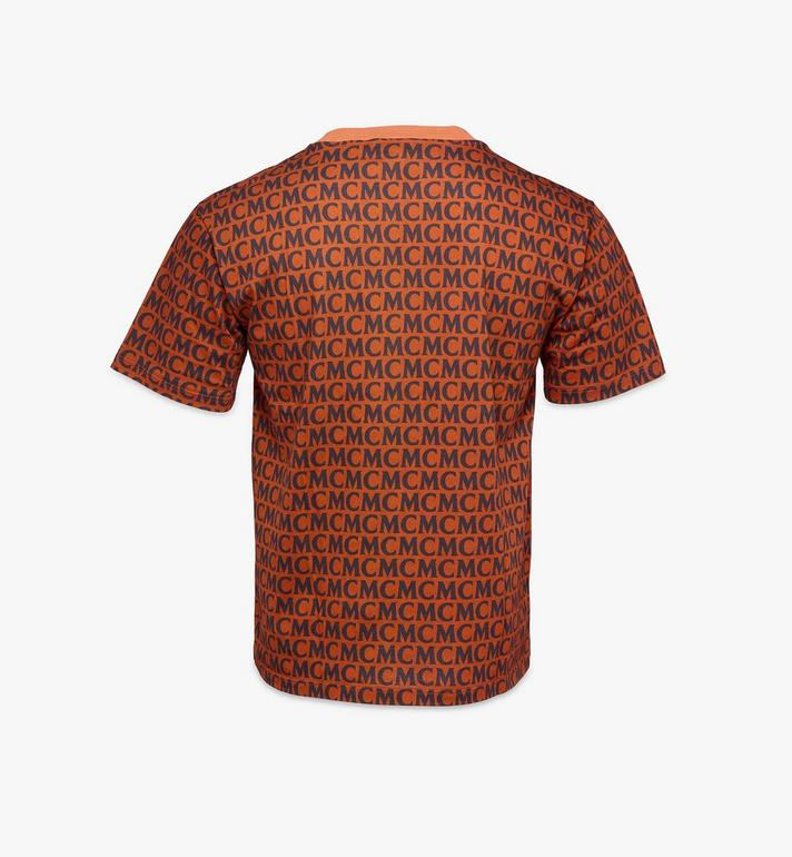 MCM Men's Monogram T-Shirt Brown MHTAAMD01C400M Alternate View 2
