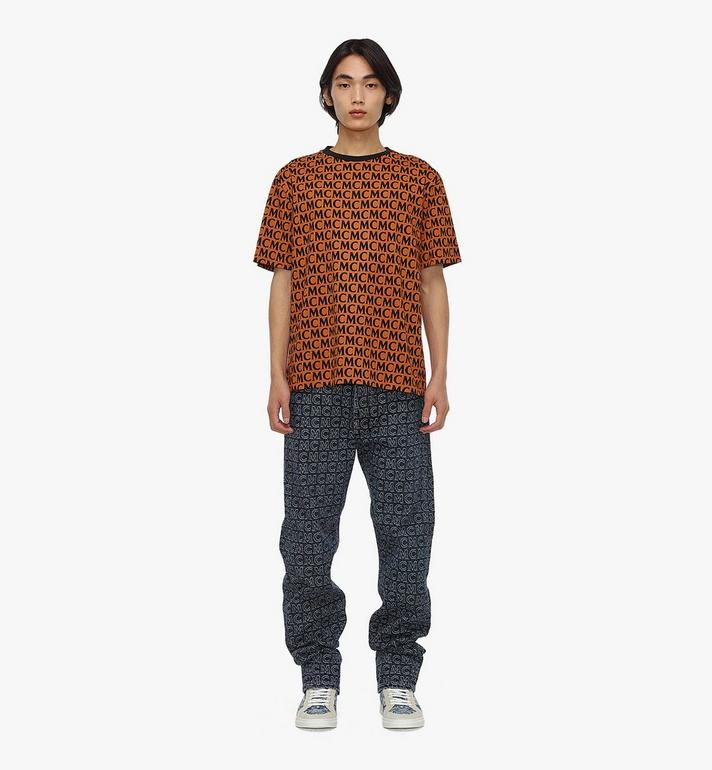 MCM Men's Monogram T-Shirt Brown MHTAAMD01C400M Alternate View 3