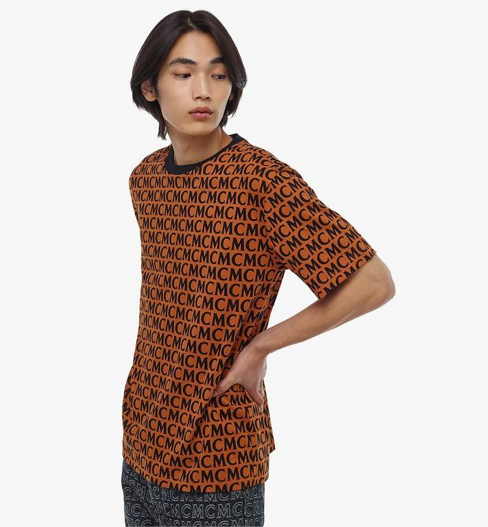 MCM Men's Monogram T-Shirt Brown MHTAAMD01C400M Alternate View 4