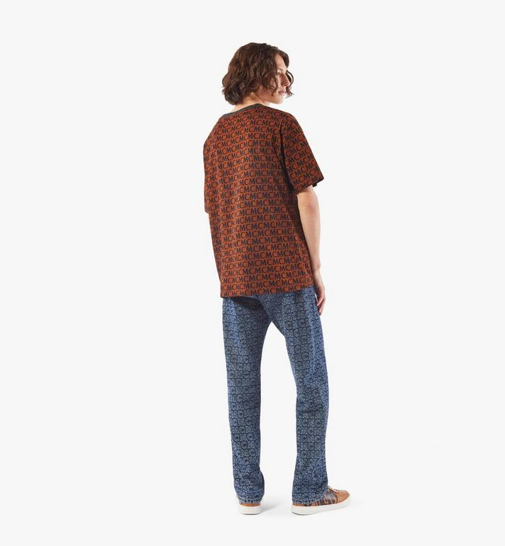 MCM Men's Monogram T-Shirt Brown MHTAAMD01C400M Alternate View 6