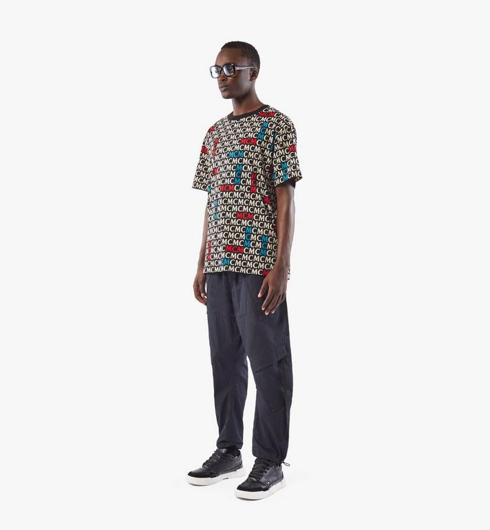 MCM Men's Monogram T-Shirt Black MHTAAMD01MW00M Alternate View 4