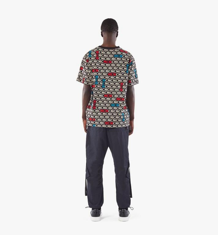 MCM Men's Monogram T-Shirt Black MHTAAMD01MW00M Alternate View 5