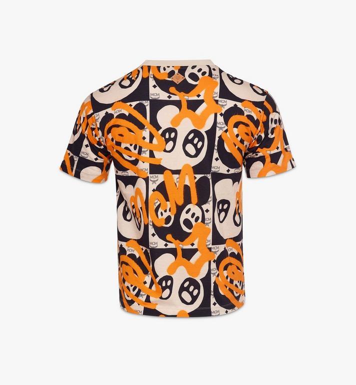 MCM เสื้อยืดสำหรับผู้ชายพิมพ์ลาย Bear Animation Multi MHTAAMM01I300L Alternate View 2
