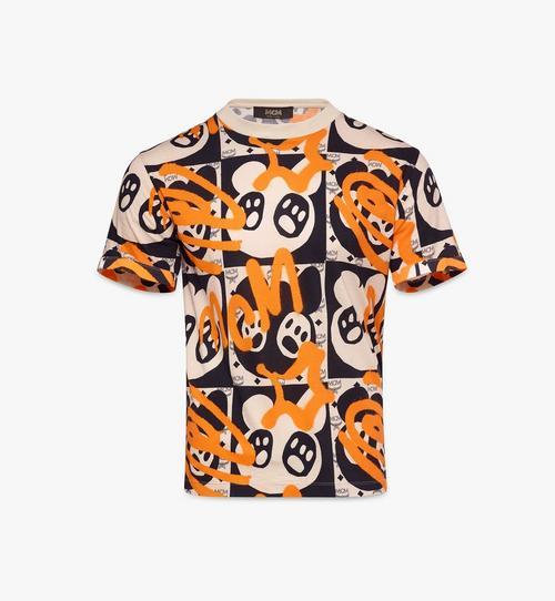 T-Shirt mit animiertem Bärenprint für Herren